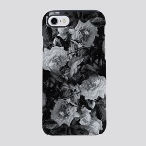 Floral Grey Roses iPhone 7 Tough Case