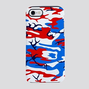 Red, White and Blue Camo iPhone 7 Tough Case