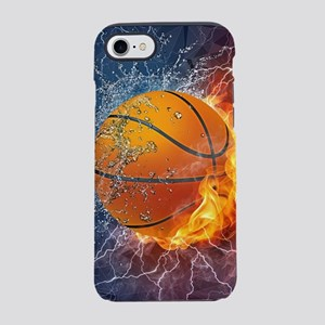 Flaming Basketball Ball Splash iPhone 7 Tough Case