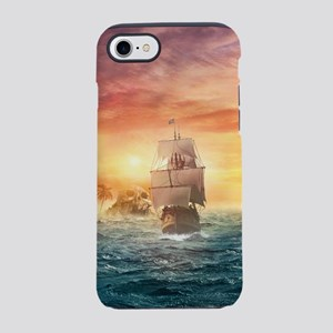 Pirate ship iPhone 7 Tough Case