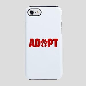 Cute Pets Paw Cat Dog Adopt Re iPhone 7 Tough Case