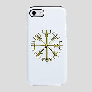 Gold Vegvisir - Viking Compass iPhone 7 Tough Case