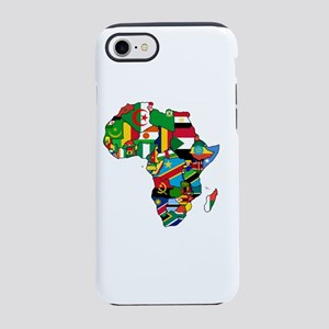 Flag Map of Africa iPhone 7 Tough Case