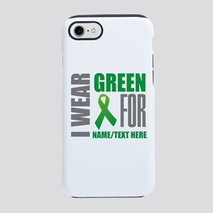 Green Awareness Ribbon Customi iPhone 7 Tough Case