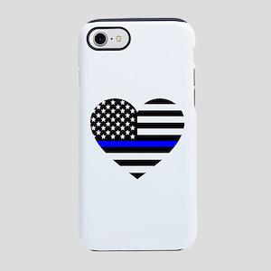 Thin Blue Line Love iPhone 7 Tough Case