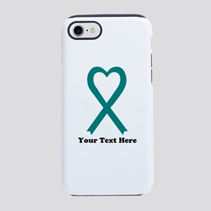 Personalized Teal Awareness iPhone 8/7 Tough Case