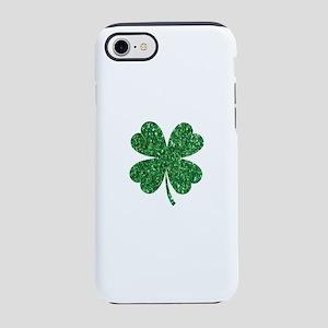 Green Glitter Shamrock st. p iPhone 8/7 Tough Case