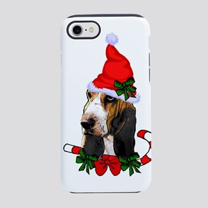 Basset Hound Christmas iPhone 7 Tough Case