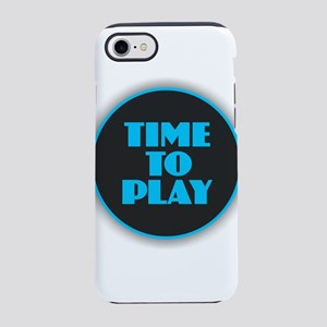 Time to Play - Blue iPhone 7 Tough Case