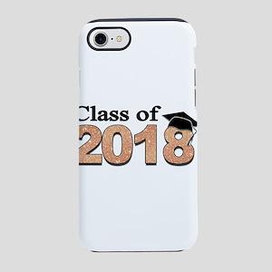 Class of 2018 Glitter iPhone 7 Tough Case