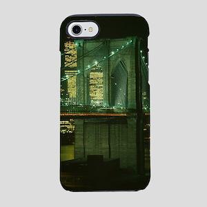 Brooklyn Bridge at Night Pho iPhone 8/7 Tough Case