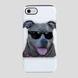 Pitbull in sunglasses iPhone 8/7 Tough Case