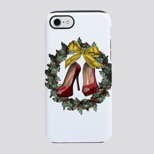 Red Stiletto Shoe Christmas Wr iPhone 7 Tough Case