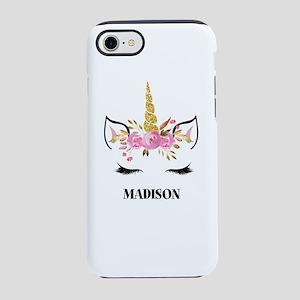 Unicorn Face Eyelashes Personalized Gift iPhone 8/
