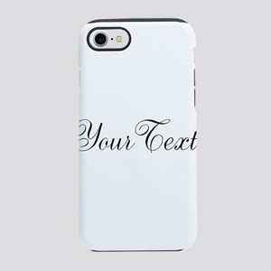Personalizable Black Script iPhone 8/7 Tough Case