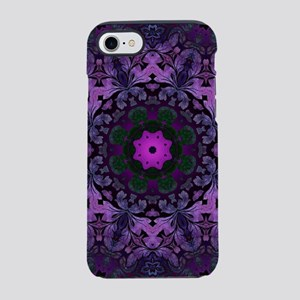 abstract bohemian purple man iPhone 8/7 Tough Case