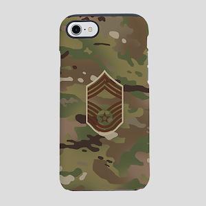 U.S. Air Force: CMSgt (Camo) iPhone 8/7 Tough Case