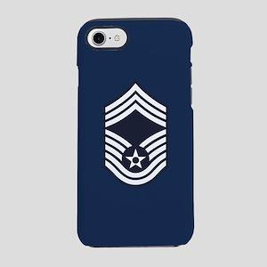 USAF: CMSgt E-9 (Blue) iPhone 8/7 Tough Case