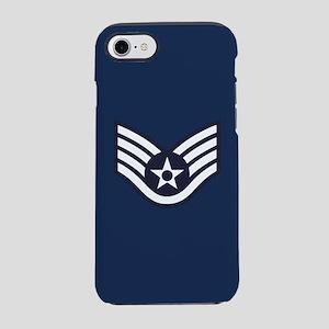 USAF: SSgt E-5 (Blue) iPhone 8/7 Tough Case