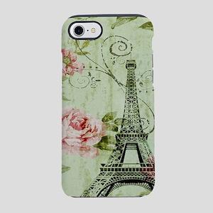 floral vintage paris eiffel iPhone 8/7 Tough Case