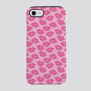 Girly Pink Lips iPhone 8/7 Tough Case