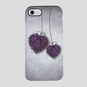 Purple Hearts iPhone 7 Tough Case