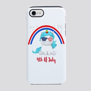 4th of July Unicorn Lover Re iPhone 8/7 Tough Case