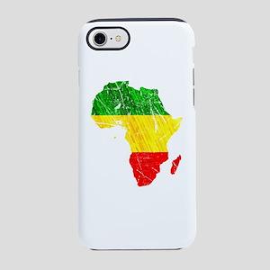Africa Map Reggae Rasta desi iPhone 8/7 Tough Case