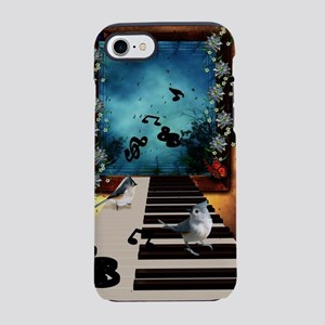Music, piano with birds and butterflies iPhone 8/7