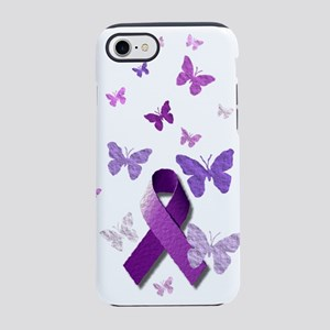 Purple Awareness Ribbon iPhone 8/7 Tough Case