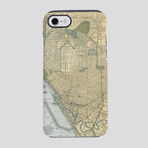 Vintage Map of Buffalo New Y iPhone 8/7 Tough Case