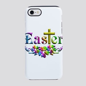 Easter Cross and Flowers iPhone 8/7 Tough Case