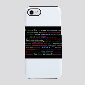 Rainbow New Years Resolution iPhone 8/7 Tough Case