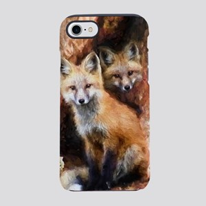 Fox Cubs in Hollow Tree iPhone 7 Tough Case
