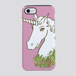 Unicorn With Flower Garland iPhone 7 Tough Case
