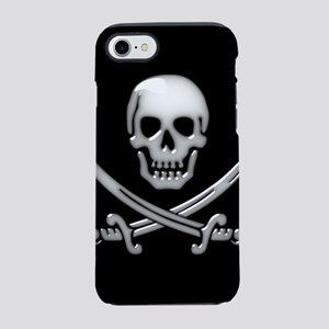 Glassy Skull and Cross Swords iPhone 7 Tough Case