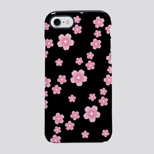 Cherry Blossoms Black Pattern iPhone 7 Tough Case