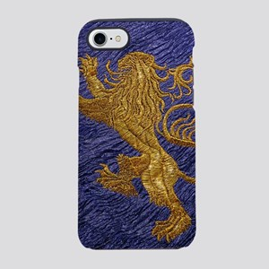 Rampant Lion - gold on blue iPhone 7 Tough Case