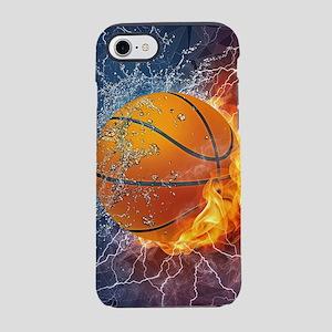 Flaming Basketball Ball Splash iPhone 7 Tough Case