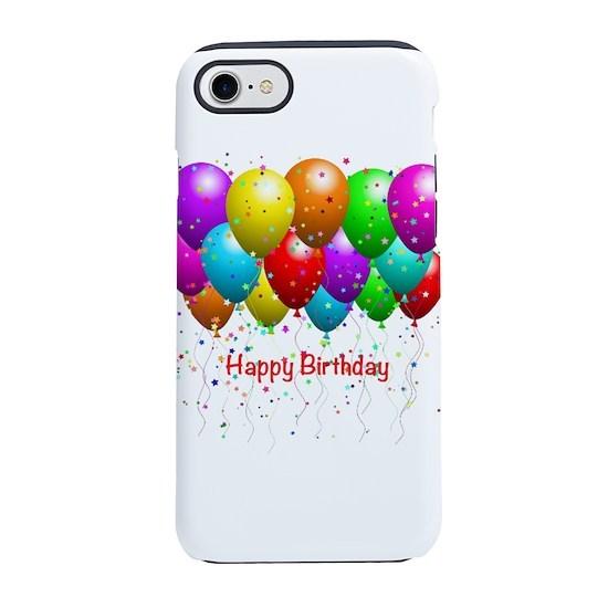 Happy Birthday Balloons IPhone 8 7 Tough Case By Debiydo