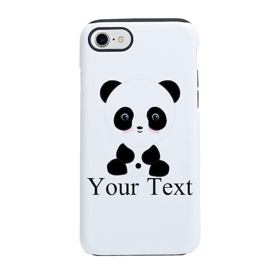 100% authentic 12fe0 0c2d2 Personalizable Panda Bear iPhone 8/7 Tough Case