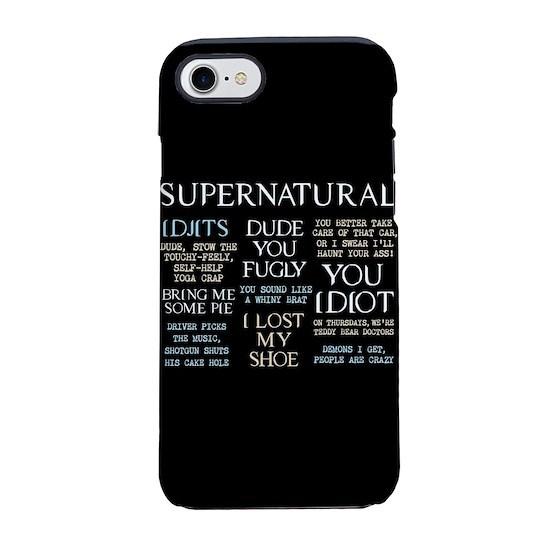 new style 518ba b95d9 Supernatural Quotes iPhone 7 Tough Case