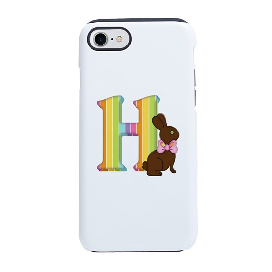 72a4cff5d Letter H Chocolate Easter Bu iPhone 8/7 Tough Case by debiydo ...