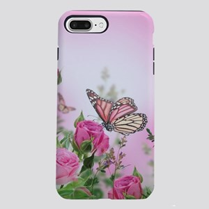 Butterfly Flowers iPhone 8/7 Plus Tough Case