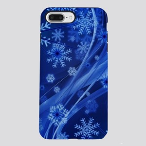 Blue Snowflakes iPhone 7 Plus Tough Case