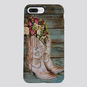 cowboy boots barn wood iPhone 8/7 Plus Tough Case