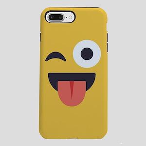 Winky Tongue Emoji Face iPhone 7 Plus Tough Case