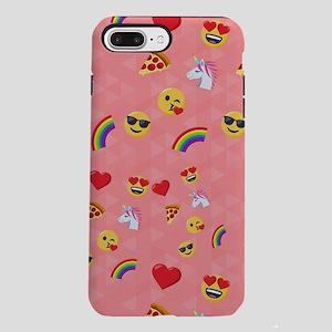 Emoji Pink Pattern iPhone 7 Plus Tough Case