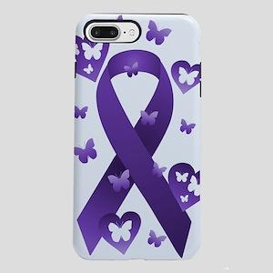 Purple Awareness Ribbon iPhone 7 Plus Tough Case