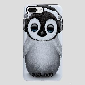 Baby Penguin Dj Wearing H iPhone 7 Plus Tough Case